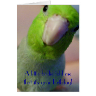 A Little Birdie Told Me... Card