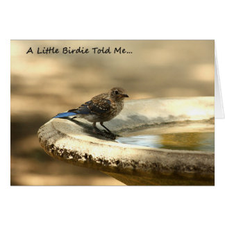 A Little Birdie Told Me... Get Well Card