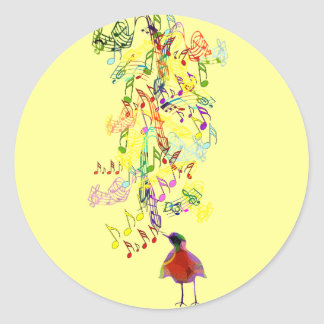 A Little Birdie Told Me So Classic Round Sticker