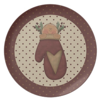 A Little Bit of Christmas Gingerbread Dinner Plates