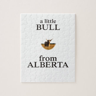 A Little Bull from Alberta Jigsaw Puzzle