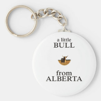 A Little Bull from Alberta Keychain