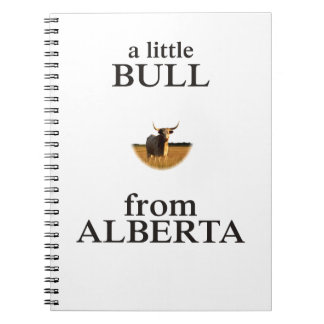 A Little Bull from Alberta Note Book