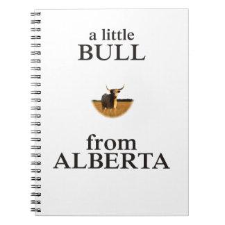 A Little Bull from Alberta Notebook