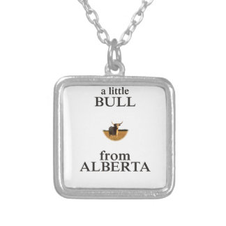 A Little Bull from Alberta Silver Plated Necklace