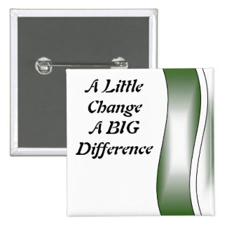 A Little Change A Big Difference 2 Inch Square Button