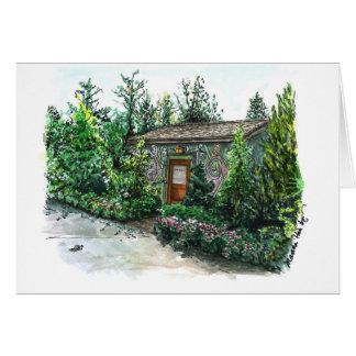 A little Decorated cottage Card