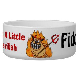 A Little Devilish Customized Dog Bowls