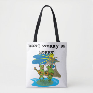 A LITTLE FROG HUMOR TOTE BAG