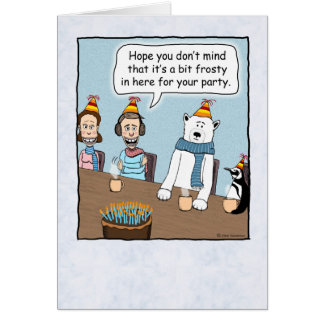 A Little Frosty Birthday Card