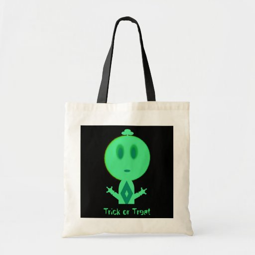 A Little Green Man, Trick or Treat Tote Bags