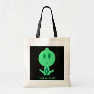 A Little Green Man, Trick or Treat Budget Tote Bag