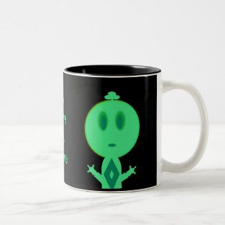 A Little Green Man Two-Tone Mug