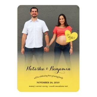 A Little Hello Yellow Pregnancy Photo Announcement