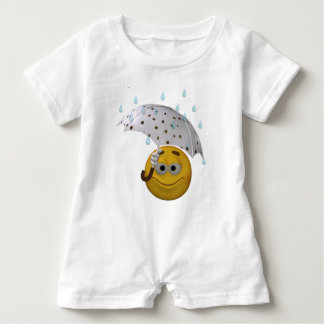 A little help to keep you dry baby romper