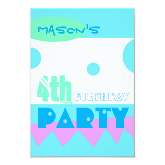 A Little Monster 4th Birthday Party Invitation
