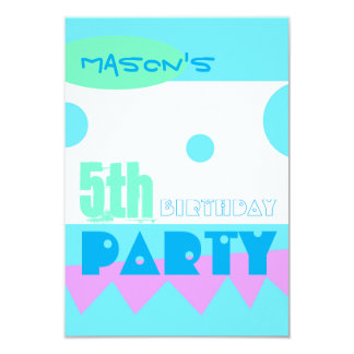 """A Little Monster 5th Birthday Party Invitation 3.5"""" X 5"""" Invitation Card"""