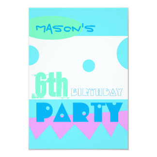 A Little Monster 6th Birthday Party Invitation