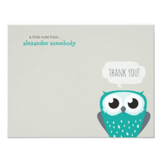 A Little Note Thank You Blue Owl 4.25x5.5 Paper Invitation Card