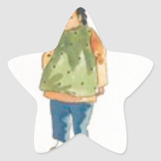 A Little Outkast Chinese Boy Star Sticker