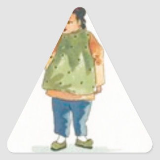 A Little Outkast Chinese Boy Triangle Sticker