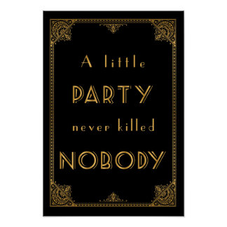a little party gatbsy inspired wedding sign print