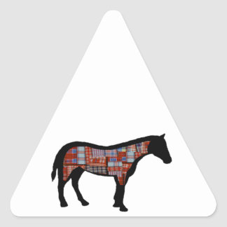 A LITTLE PLAID TRIANGLE STICKER