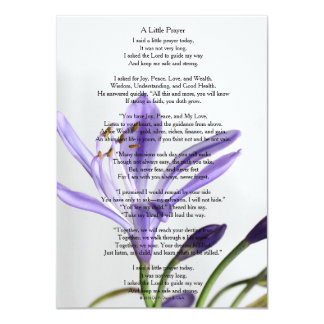 """A Little Prayer"" Matte Card"