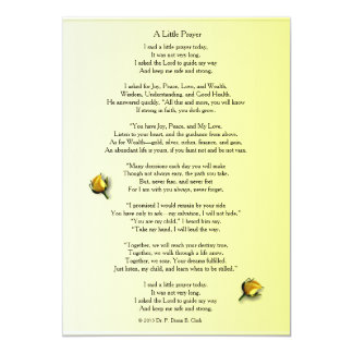 """A Little Prayer"" Matte Yellow Rose Bud Card"