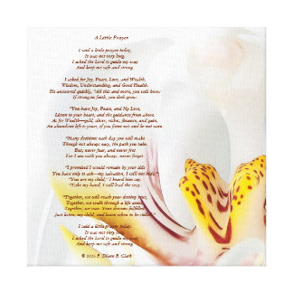 """A Little Prayer"" Orchid Canvas Print"