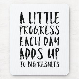 A Little Progress Motivational Quote Mouse Pad