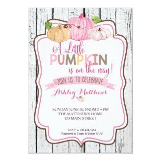 A little Pumpkin Baby Shower Card