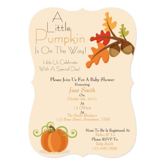 A Little Pumpkin Baby Shower Invite