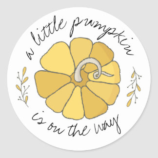 A Little Pumpkin Vintage Sticker