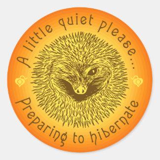 ' A little quiet please...' Round Sticker