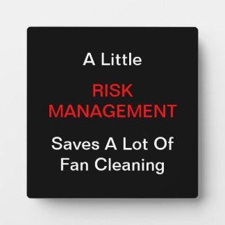 """""""A LIttle Risk Management"""" Plaques"""
