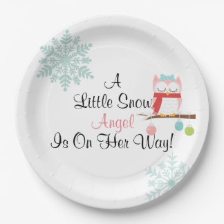 A Little Snow Angel Plate 9 Inch Paper Plate