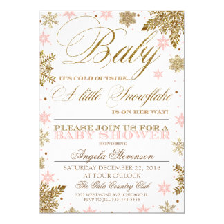 A little snowflake baby shower invitation winter