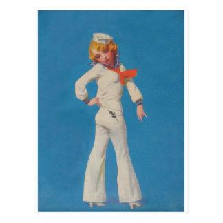 A Little Tar on Sailor Girl Postcard