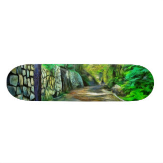 A lonely but lovely path skateboard deck