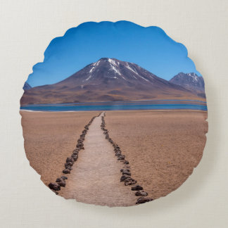 A lonely path round pillow