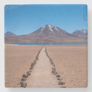 A lonely path stone coaster