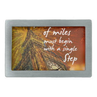 A long road starts with a single step belt buckle