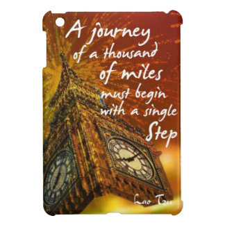 A long road starts with a single step iPad mini cover