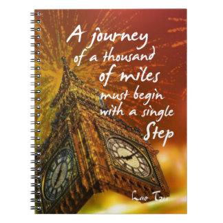 A long road starts with a single step notebook