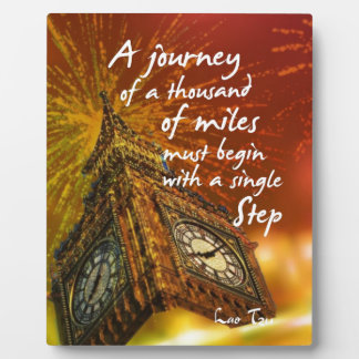A long road starts with a single step plaque