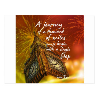 A long road starts with a single step postcard