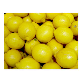 A lot of lemons postcard
