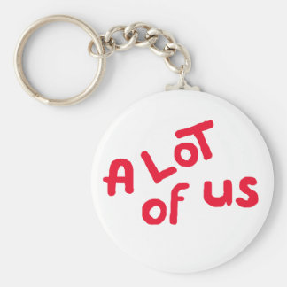 A lot of us basic round button keychain
