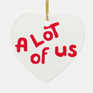 A lot of us ceramic heart ornament